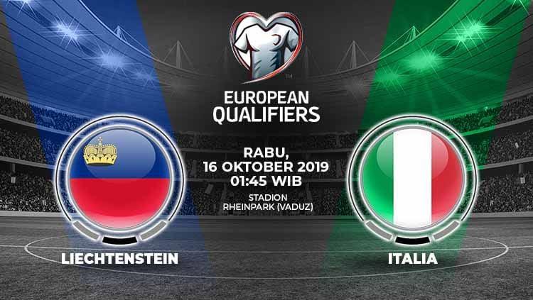 Italia diprediksi akan menjaga tren kemenangan sempurnanya dalam laga kedelapan grup J Kualifikasi Euro 2020 melawan Liechtenstein pada Rabu (16/10/19). Copyright: © Grafis: Yanto/Indosport.com