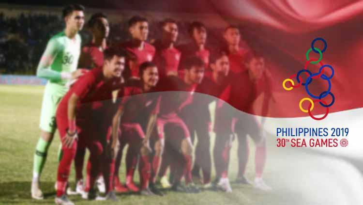 Timnas Indonesia U-23 menjalani latihan perdana, Senin (21/10/19) di Lapangan G Senayan, Jakarta, pasca mengikuti turnamen di China belum lama ini. Copyright: © INDOSPORT