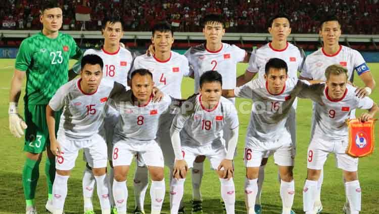 Vietnam sepertinya tidak khawatir meski Timnas Indonesia saat ini diarsiteki oleh eks pelatih Korea Selatan di Piala Dunia 2018, Shin Tae-yong. Copyright: © Nofik Lukman Hakim/INDOSPORT