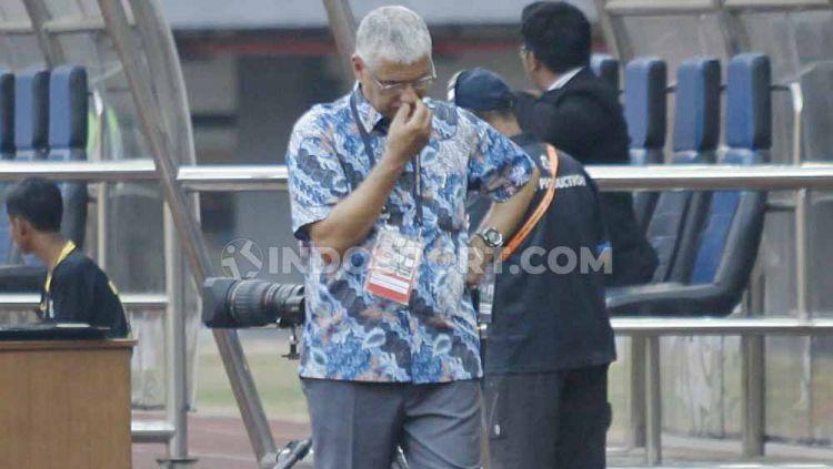 Edson Tavares akhirnya menjalani debutnya sebagi pelatih baru Persija Jakarta di kabcah Liga 1 2019. Copyright: © Herry Ibrahim/INDOSPORT