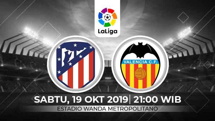 Prediksi LaLiga Spanyol antara Atletico Madrid vs Valencia. Copyright: © INDOSPORT