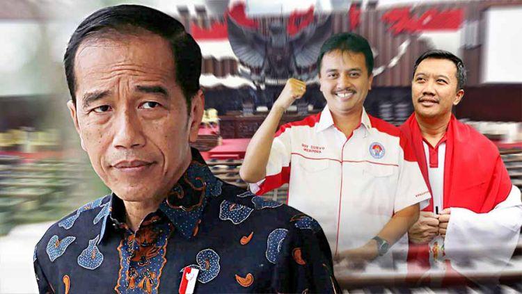 Pelantikan Jokowi dan tugas berat mencari menpora yang mengerti olahraga. Copyright: © Grafis: Yanto/Indosport.com
