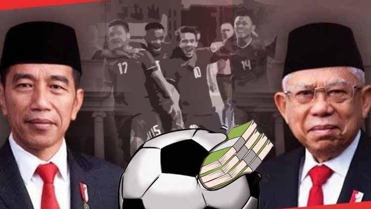 Pelantikan Presiden, Inpres sepak bola, mafia bola yang sudah bebas dan kekalahan Timnas Copyright: © Ilustrasi/Eli Suhaeli/INDOSPORT