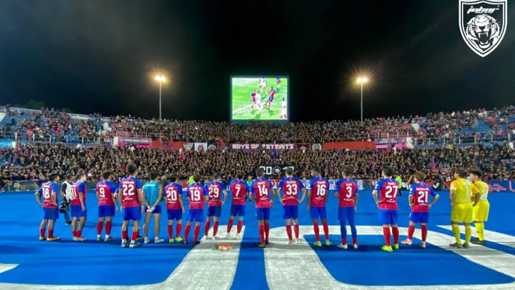 Tim Johor Darul Ta'zim (JDT) meninggalkan markasnya, Stadion Larkin, setelah enam tahun. Copyright: © Fox Sports Asia