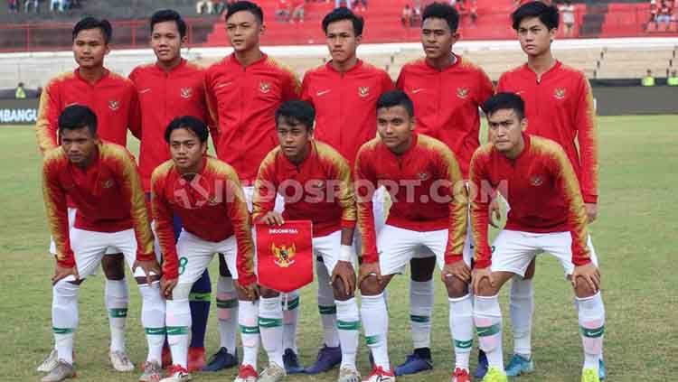 Skuat Timnas Indonesia U-19 yang akan bertanding kualifikasi Piala Asia U-19 2020. Copyright: © Nofik Lukman Hakim/INDOSPORT