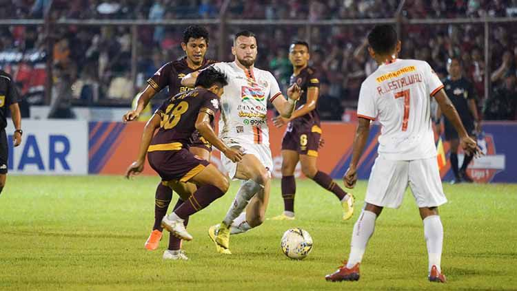 Marko Simic saat melawan PSM Makassar pada lanjutan Liga 1 di Stadion Andi Mattalatta, Minggu (20/10/2019) Copyright: © Media Persija