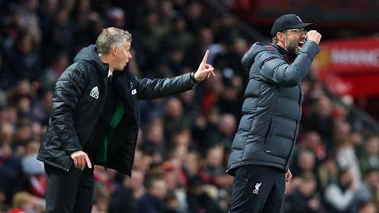 Berikut duel antarlini Manchester United vs Liverpool jelang pertandingan putaran empat Piala FA, Senin (25/01/21) dini hari WIB. Copyright: © Alex Livesey/Getty Images