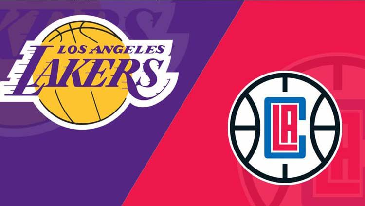 Dua tim NBA yang berbasis di Los Angeles, yaitu Clippers dan Lakers kompak mengambil suara boikot untuk sisa musim NBA 2019/20. Copyright: © LineUps