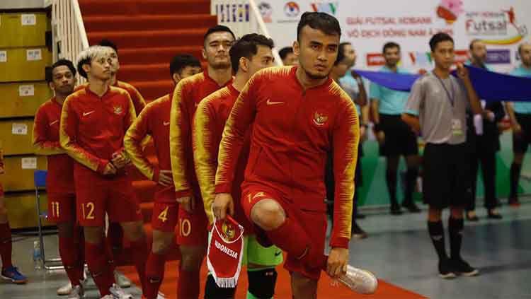 Timnas Futsal Indonesia bersiap menghadapi Malaysia di laga perdana Grup B Piala AFF 2019 Copyright: © Media FFI