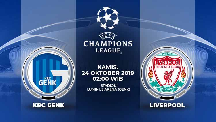 Pertandingan KRC Genk vs Liverpool di Liga Champions bisa dinikmati lewat live streaming. Copyright: © Grafis: Yanto/Indosport.com