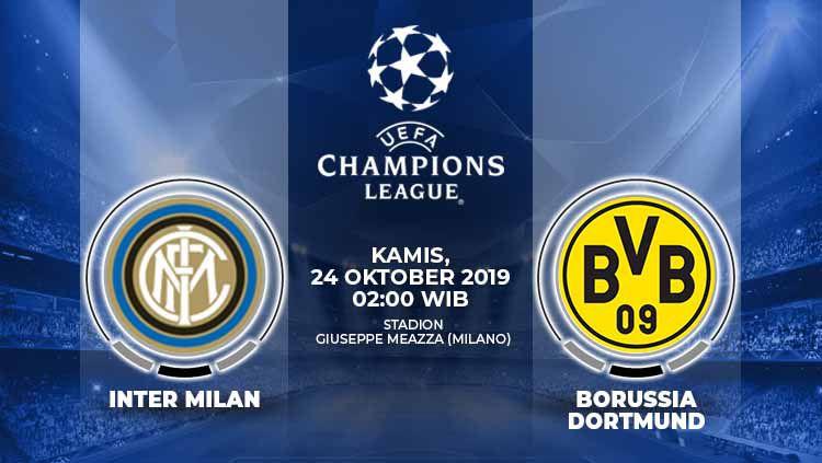 Prediksi pertandingan Liga Champions 2019-2020 Inter Milan vs Borussia Dortmund. Copyright: © Grafis: Yanto/Indosport.com