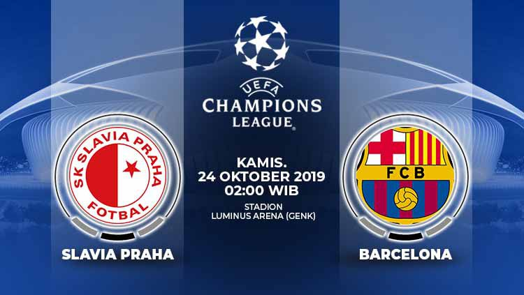 Prediksi pertandingan Slavia Praha vs Barcelona. Copyright: © Grafis: Yanto/Indosport.com