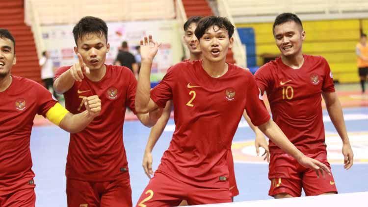 Timnas futsal Indonesia menang atas Australia dengan skor 8-3. Copyright: © Ical/Media FFI