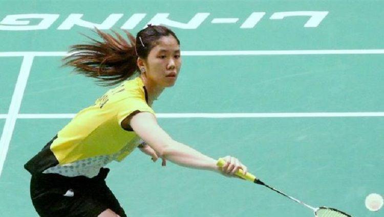 Pebulu tangkis Malaysia, Soniia Cheah, sukses menumbangkan wakil Jepang, Akane Yamaguchi di ajang Fuzhou China Open 2019. Copyright: © https://badmintonasia.org/