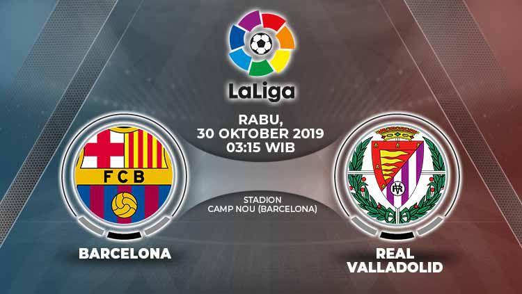 Pertandingan Barcelona vs Real Valladolid. Copyright: © Grafis: Yanto/Indosport.com