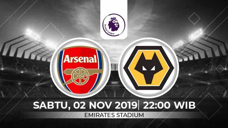 Prediksi pertandingan Liga Inggris antara Arsenal vs Wolverhampton Wanderers pada pekan ke-11, Sabtu (02/11/19), pukul 22.00 WIB, di Emirates Stadium. Copyright: © INDOSPORT
