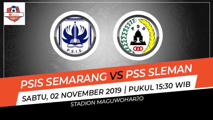 Prediksi pertandingan Shopee Liga 1 2019 antara PSIS Semarang vs PSS Sleman pada pekan ke-26, Sabtu (02/11/19), pukul 15.30 WIB, di Stadion Maguwoharjo. Copyright: © INDOSPORT