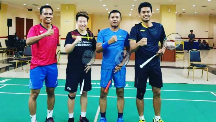 Tontowi Ahmad/Apriyani Rahayu akan turun ke Indonesia Masters 2020 seusai mundurnya wakil Singapura, Chrisnanta/Tan Wei Han. Copyright: © Instagram/Tontowi Ahmad