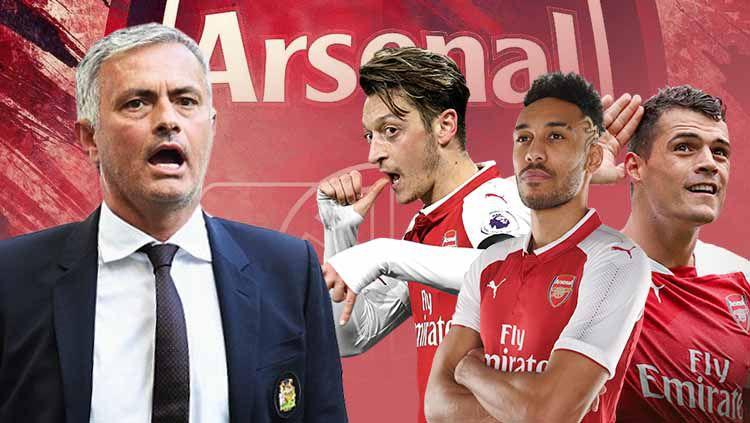 Jose Mourinho kedapatan makan malam bersama petinggi klub Liga Inggris Arsenal yang membuat kabar dirinya menggantikan Unai Emery kian menguat Copyright: © Ilustrasi/INDOSPORT