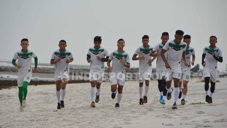 Klub Liga 2 PSMS Medan akan menggelar turnamen pra-musim internasional bertajuk Edy Rahmayadi Cup pada pertengahan Januari mendatang. Copyright: © Aldi Aulia Anwar/INDOSPORT