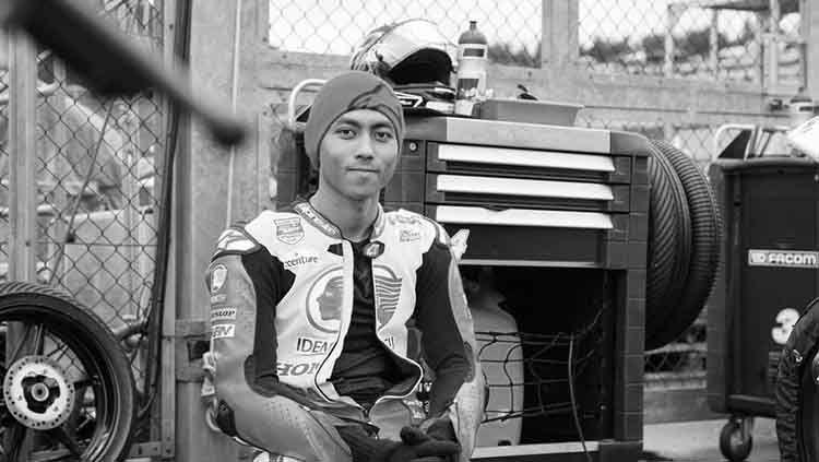 Pembalap Indonesia, Afridza Munandar meninggal dunia karena insiden saat balapan di Sirkuit Sepang, Malaysia, Sabtu (02/11/19). Copyright: © Instagram.com/motogp