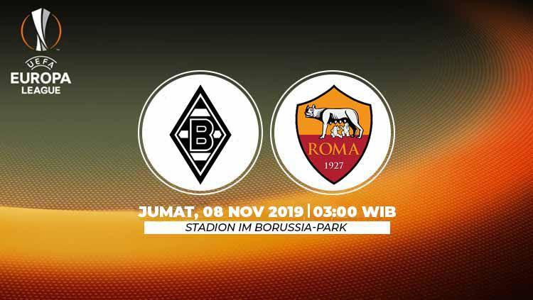 Prediksi pertandingan matchday 4 Liga Europa 2019-2020 antara Borussia Monchengladbach vs AS Roma, Jumat (08/11/19) dini hari WIB. Copyright: © INDOSPORT