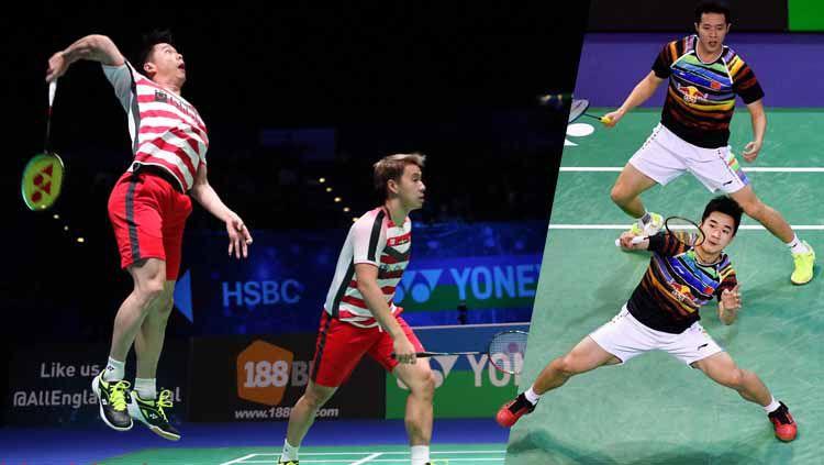 Ganda putra China, He Ji Ting/Tan Qiang bukanlah lawan berat untuk Kevin Sanjaya/Marcus Gideon, keduanya akan bertemu di Fuzhou China Open 2019 hari ini, Kamis (07/11/19). Copyright: © xinhuanet.com/badmintonindonesia