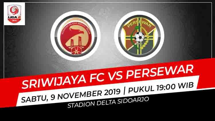 Kompetisi babak 8 besar Liga 2 2019 di Grup A akan mempertemukan Sriwijaya FC vs Persewar Waropen. Berikut link live streaming pertandingan tersebut. Copyright: © INDOSPORT