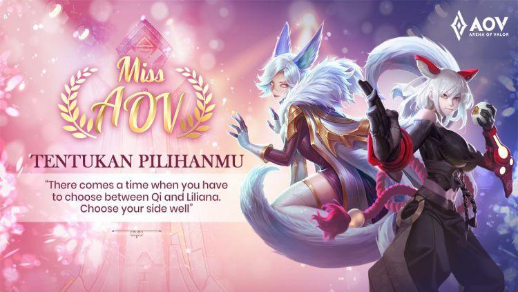 Grand Final Miss AOV 2019 regional Indonesia, Qi vs Liliana Copyright: © Garena Indonesia