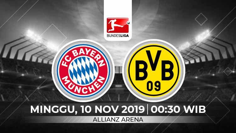 Berita Liga Jerman: berikut prediksi pertandingan Bundesliga Jerman Bayern Munchen vs Borussia Dortmund di Allianz Arena, Minggu (10/11/19) WIB Copyright: © INDOSPORT