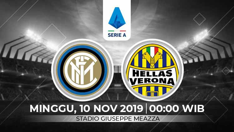Jadwal siaran langsung Serie A Italia di RCTI, Minggu (10/11/19) pukul 00.00 WIB, akan menyajikan laga pekan ke-12 antara Inter Milan melawan Hellas Verona. Copyright: © INDOSPORT