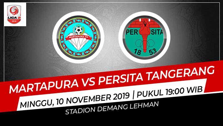 Pertandingan antara Martapura vs Persita Tangerang. Copyright: © Grafis: Indosport.com