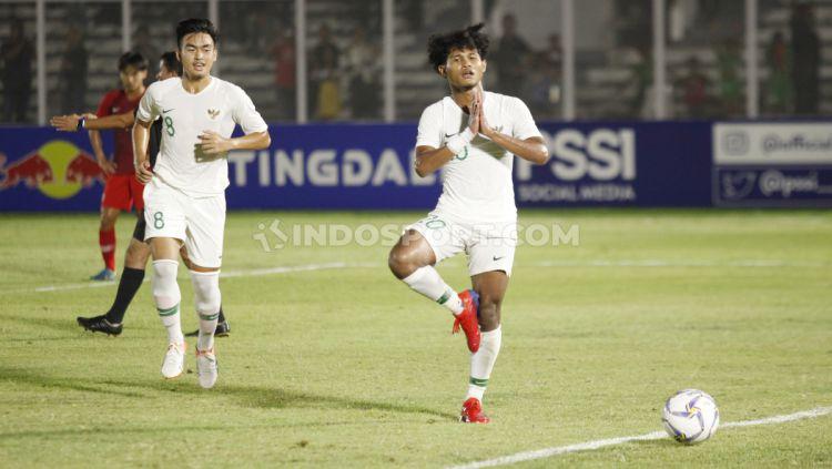 Striker muda andalan Indonesia, Amiruddin Bagus Kahfi menjadi pembeda di laga uji coba Garuda Select vs Juventus U-17, Kamis (16/01/20) lalu. Copyright: © Herry Ibrahim/INDOSPORT