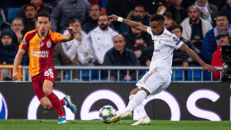 Bintang muda Real Madrid, Rodrygo Goes, tampil gemilang musim ini bersama Los Blancos. Copyright: © TF-Images/Getty Images