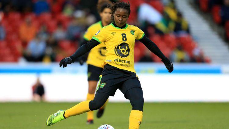 Tarania Clarke, pemain timnas wanita Jamaika yang dikabarkan tewas Copyright: © Stephen Pond/Getty Images