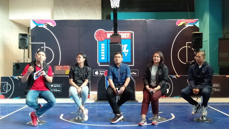 Konferensi pers Main Basket Bareng KFC pada Jumat (08/11/19) di Senopati, Jakarta Selatan. Copyright: © Shintya Anya Maharani/INDOSPORT