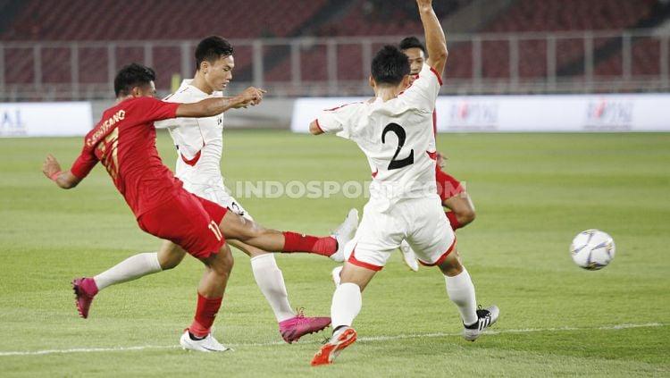 Terdapat tiga fakta terselubung usai Timnas Indonesia U-19 diimbangi Korea Utara U-19, 1-1 di ajang Kualifikasi Piala Asia U-19 2020. Copyright: © Herry Ibrahim/INDOSPORT