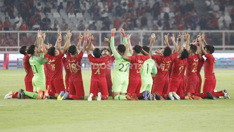 Laga pertandingan antara Indonesia U-19 vs Korea Utara U-19 pada Kualifikasi Piala Asia U-19 di GBK, Jakarta, Minggu (10/11/19). Copyright: © Herry Ibrahim/INDOSPORT