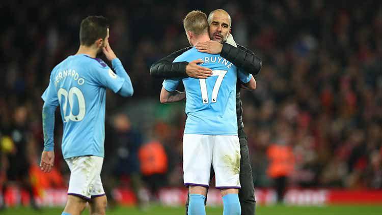 Pep Guardiola menegaskan Manchester City takkan berburu pemain pada Bursa Transfer Januari 2020 mendatang Copyright: © Robbie Jay Barratt - AMA/Getty Images