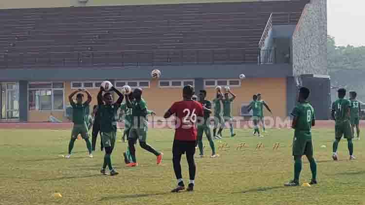 Pasca tersisih dari Babak 8 Besar Liga 2 2019 dan gagal melaju ke semifinal, skuat PSMS Medan untuk sementara diliburkan hingga waktu yang belum ditentukan. Copyright: © Aldi Aulia Anwar/INDOSPORT