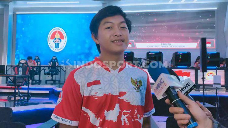 Pemain Mobile Legends, Psychoo dari tim ONIC eSports, mewakili Indonesia di cabang olahraga eSports pada SEA Games 2019 di Filipina. Copyright: © Martin Gibsian/INDOSPORT