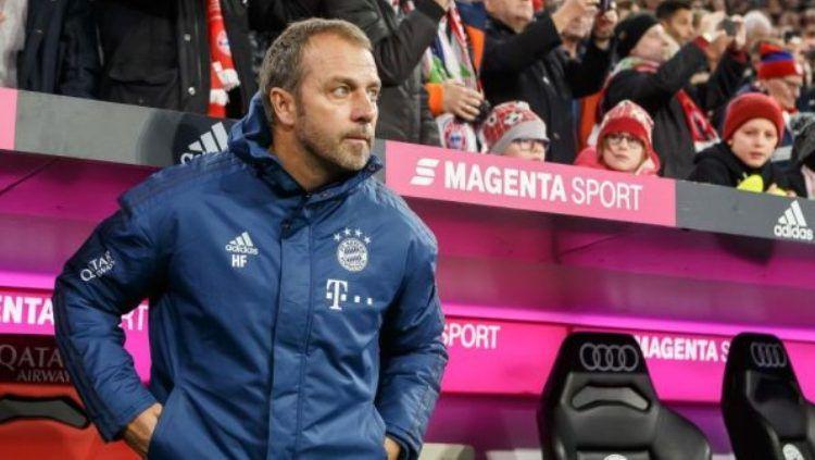 Pelatih Bayern Munchen, Hans-Dieter Flick memiliki resep tersendiri atas kesuksesan klub di bawah naungannya untuk musim ini. Terlebih, dirinya berhasil memenangkan laga melawan Barcelona. Copyright: © NBC Sports