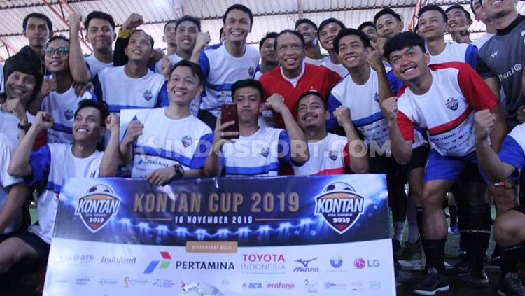 Menteri Pemuda dan Olahraga (Menpora) Republik Indonesia Zainudin Amali meriahkan satu dekade Kontan Cup. Copyright: © Ahmad Fatih Qadri/INDOSPORT