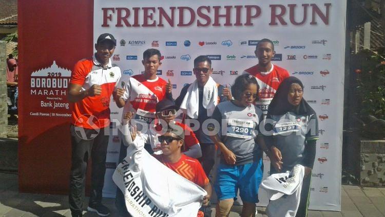 Atlet paralimpik Indonesia untuk ASEAN Para Games 2020 mengikuti Friendship Run Borobudur Marathon 2019 Copyright: © Ervan Yudhi Triatmoko/INDOSPORT