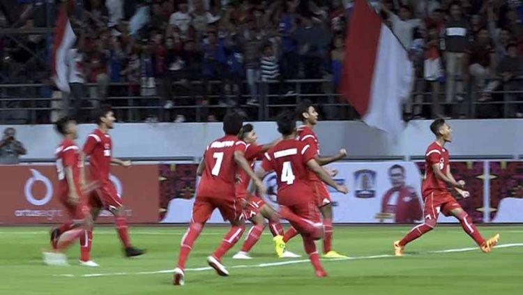 Timnas Pelajar U-18 Indonesia mengawali langkah dengan baik di ajang Asian Schools Football Championship (ASFC) U-18 dengan skor 8-0. Copyright: © Humas Kemenpora