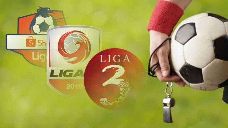 Membandingkan kesejahteraan wasit Liga 1, Liga 2, dan Liga 3. Foto: Ilustrasi Copyright: © Grafis: Indosport.com