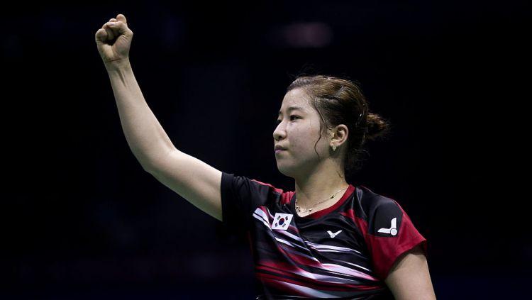 Bae Yeon Ju, legenda tunggal putri Korea Selatan langsung tersingkir di putaran pertama Korea Masters 2019 Copyright: © Visual China Group via Getty Images