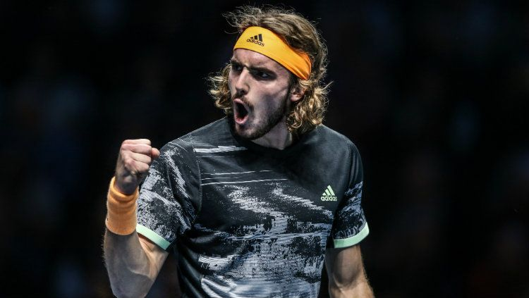Stefanos Tsitsipas akan melawan Andrey Rublev di Monte-Carlo Masters 2021. Copyright: © Rob Newell - CameraSport via Getty Images