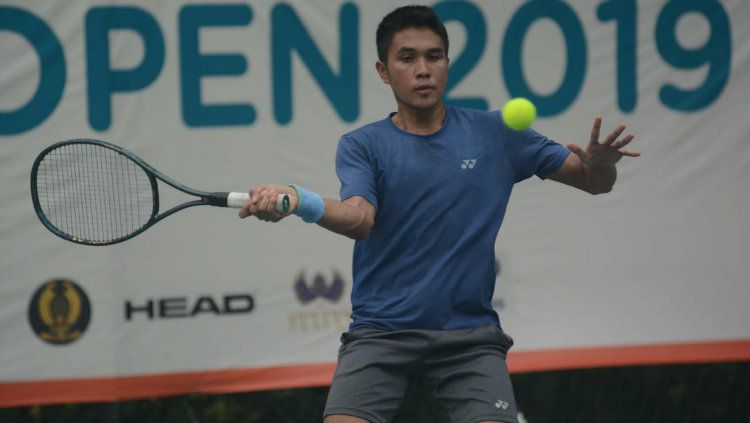 Muhammad Rifqi Fitriadi melangkah ke babak perempatfinal BNI Tennis Open 2019. Copyright: © Tennis Indonesia