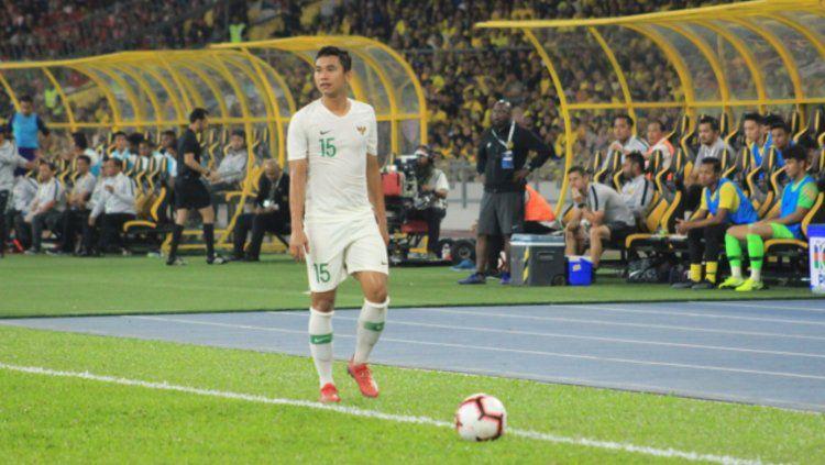 Ricky Fajrin saat perkuat Timnas Indonesia. Copyright: © Media PSSI